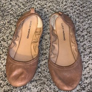 Lucky Brand Size 11 Distressed Brown Flats